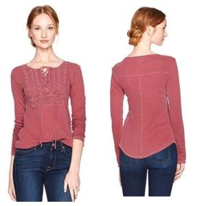 New Lucky Brand Lace Up Thermal Hanley